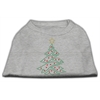 Mirage Pet Products Christmas Tree Rhinestone Shirt Grey XS (8)