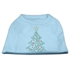 Mirage Pet Products Christmas Tree Rhinestone Shirt Baby Blue XXXL(20)