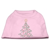 Mirage Pet Products Christmas Tree Rhinestone Shirt Light Pink XXXL(20)