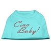 Mirage Pet Products Ciao Baby Rhinestone Shirts Aqua XXXL(20)