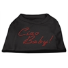 Mirage Pet Products Ciao Baby Rhinestone Shirts Black XXL (18)