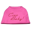 Mirage Pet Products Ciao Baby Rhinestone Shirts Bright Pink XXXL(20)