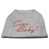 Mirage Pet Products Ciao Baby Rhinestone Shirts Grey XXXL(20)