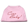 Mirage Pet Products Ciao Baby Rhinestone Shirts Light Pink XXL (18)