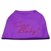 Mirage Pet Products Ciao Baby Rhinestone Shirts Purple XXXL(20)