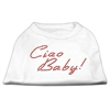 Mirage Pet Products Ciao Baby Rhinestone Shirts White XXXL(20)