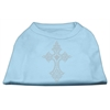 Mirage Pet Products Rhinestone Cross Shirts Baby Blue XXXL(20)