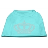 Mirage Pet Products Rhinestone Crown Shirts Aqua XL (16