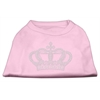 Mirage Pet Products Rhinestone Crown Shirts Light Pink XL (16