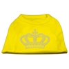 Mirage Pet Products Rhinestone Crown Shirts Yellow XS (8)