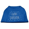 Mirage Pet Products Cutie Patootie Rhinestone Shirts Blue Lg (14)