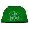 Mirage Pet Products Cutie Patootie Rhinestone Shirts Emerald Green Med (12)