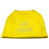 Mirage Pet Products Cutie Patootie Rhinestone Shirts Yellow Sm (10)