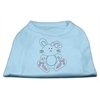 Mirage Pet Products Bunny Rhinestone Dog Shirt Baby Blue XS (8)