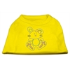 Mirage Pet Products Bunny Rhinestone Dog Shirt Yellow Med (12)