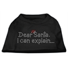 Mirage Pet Products Dear Santa I Can Explain Rhinestone Shirts Black S (10)