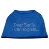 Mirage Pet Products Dear Santa I Can Explain Rhinestone Shirts Blue XS (8)