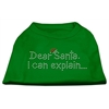 Mirage Pet Products Dear Santa I Can Explain Rhinestone Shirts Emerald Green XXL (18)