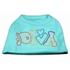 Mirage Pet Products Technicolor Diva Rhinestone Pet Shirt Aqua XXXL (20)
