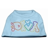 Mirage Pet Products Technicolor Diva Rhinestone Pet Shirt Baby Blue XXXL (20)