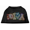 Mirage Pet Products Technicolor Diva Rhinestone Pet Shirt Black XXL (18)