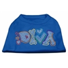 Mirage Pet Products Technicolor Diva Rhinestone Pet Shirt Blue XXL (18)