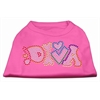 Mirage Pet Products Technicolor Diva Rhinestone Pet Shirt Bright Pink XXL (18)