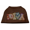 Mirage Pet Products Technicolor Diva Rhinestone Pet Shirt Brown Med (12)