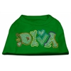 Mirage Pet Products Technicolor Diva Rhinestone Pet Shirt Emerald Green XL (16)