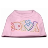 Mirage Pet Products Technicolor Diva Rhinestone Pet Shirt Light Pink XXXL (20)