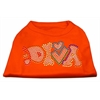 Mirage Pet Products Technicolor Diva Rhinestone Pet Shirt Orange XL (16)