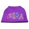Mirage Pet Products Technicolor Diva Rhinestone Pet Shirt Purple XL (16)