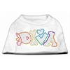 Mirage Pet Products Technicolor Diva Rhinestone Pet Shirt White XL (16)