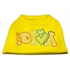 Mirage Pet Products Technicolor Diva Rhinestone Pet Shirt Yellow XL (16)