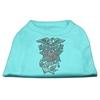 Mirage Pet Products Eagle Rose Nailhead Shirts Aqua XXXL(20)