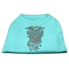 Mirage Pet Products Eagle Rose Nailhead Shirts Aqua M (12)