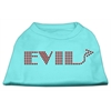 Mirage Pet Products Evil Rhinestone Shirts Aqua XXXL(20)