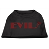 Mirage Pet Products Evil Rhinestone Shirts Black XXXL(20)