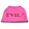 Mirage Pet Products Evil Rhinestone Shirts Bright Pink XXXL(20)