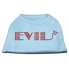 Mirage Pet Products Evil Rhinestone Shirts Baby Blue XXXL(20)