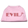 Mirage Pet Products Evil Rhinestone Shirts Light Pink XXXL(20)