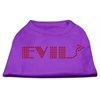 Mirage Pet Products Evil Rhinestone Shirts Purple XXXL(20)