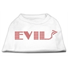 Mirage Pet Products Evil Rhinestone Shirts White XXXL(20)