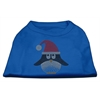 Mirage Pet Products Santa Penguin Rhinestone Dog Shirt Blue Med (12)