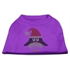 Mirage Pet Products Santa Penguin Rhinestone Dog Shirt Purple XXXL (20)