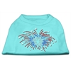 Mirage Pet Products Fireworks Rhinestone Shirt Aqua XXXL(20)