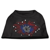 Mirage Pet Products Fireworks Rhinestone Shirt Black XXXL(20)