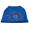Mirage Pet Products Fireworks Rhinestone Shirt Blue Med (12)