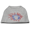 Mirage Pet Products Fireworks Rhinestone Shirt Grey XXXL(20)