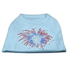 Mirage Pet Products Fireworks Rhinestone Shirt Baby Blue XXXL(20)